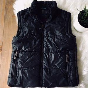 ZARA KIDS Medium Black & Brown Puffer Vest Unisex
